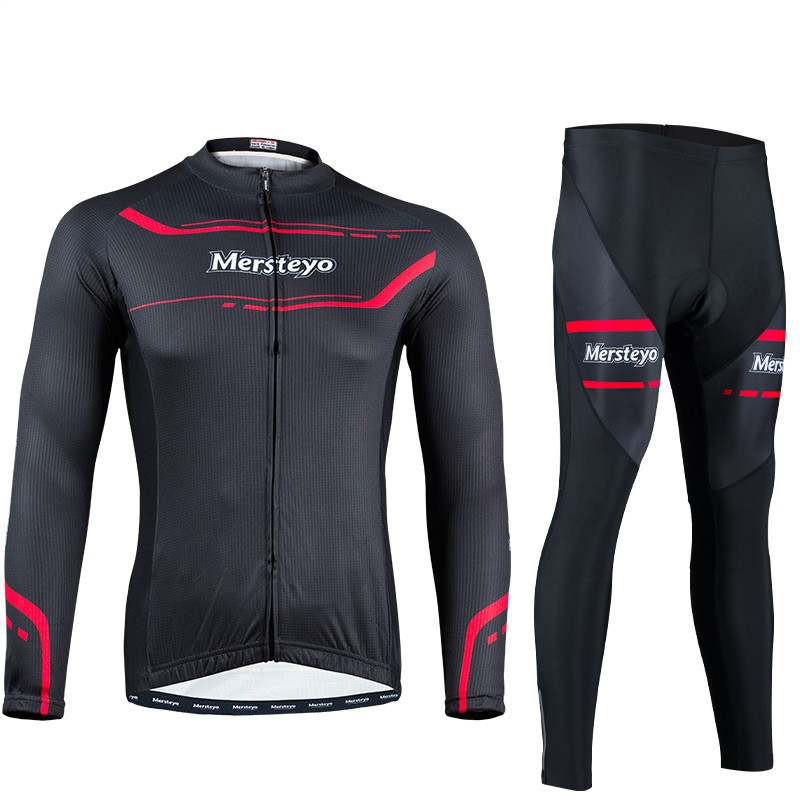 Bike Team Long Sleeve Breathable Outdoor Cycling Sets 3D Gel Padded Quick Dry Bicycle Apparel Clothing Cycling Jersey Sets H021 ckahsbi winter long sleeve men uv protect cycling jerseys suit mountain bike quick dry breathable riding pants new clothing sets