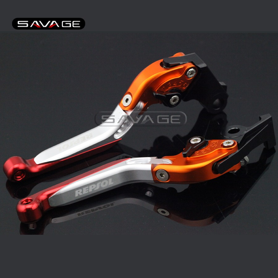 For HONDA CB599/CB600 Hornet, CBR600 F2/F3/F4/F4i Motorcycle Adjustable Folding Extendable Brake Clutch Levers logo REPSOL