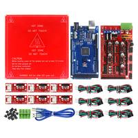 CNC 3D Printer Kit For Arduino Mega 2560 R3 Development Board RAMPS 1 4 Controller Heated