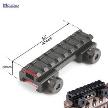 "MIZUGIWA See-Thru Flat-Top 1/2"" Riser Base Picatinny Weaver Rail 20mm Scope Mount Adapter Rifle Gun Airgun Hunting Caza Pistol(China)"