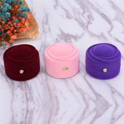 5,6*6 см 3 цвета Jewelry упаковку прекрасный Кахас Para Joyas ювелирные изделия Организатор фланель Обручальное кольцо Box Лидер продаж