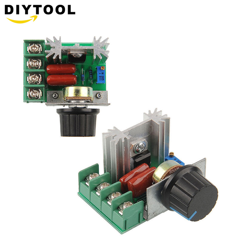 Smart Elektronik 220 V 2000 W Speed Controller SCR Spannung Regler Dimmen Dimmer Thermostat Motor Controller
