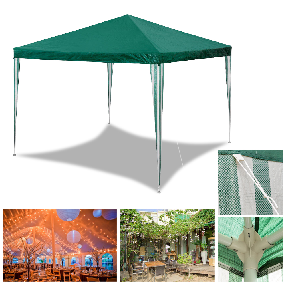 Gazebo Waterproof Garden Outdoor Marquee Wedding Party PE Tent With Sides 3X3M