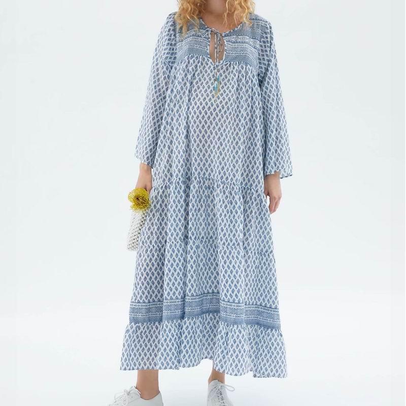 Loose Women Longo Vestido de Verão 2019 de Moda de Nova Boho Impressões Padrão Pessoas Feminino Vestidos Senhora Moderna Vestidos de Comprimento No Tornozelo