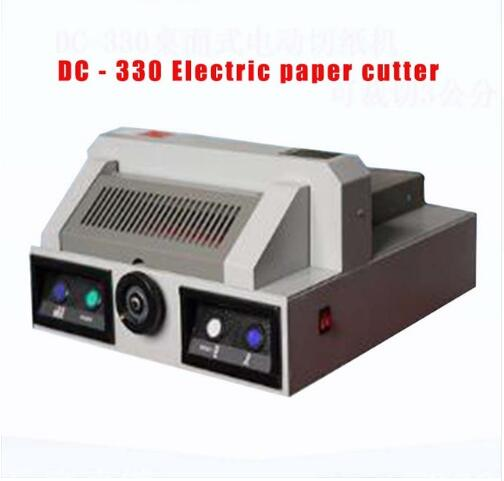 DC-330 electric paper cutting machine desktop paper cutter machine book cutting machine, 330 mm paper trimmer цена 2017