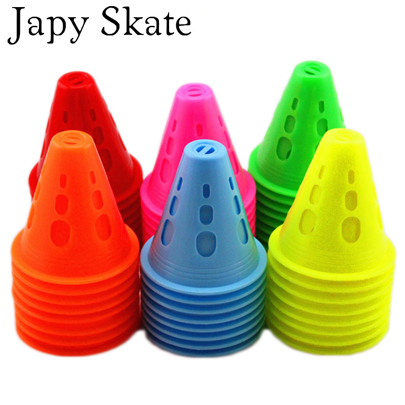 Prix pour Jus japy Skate Trou Rond Anti-Vent Slalom Cônes Marqueur Roller Skating Marquage Tasses Coupe-Vent Skate Pile Tasse Rouleau De Patinage Toast