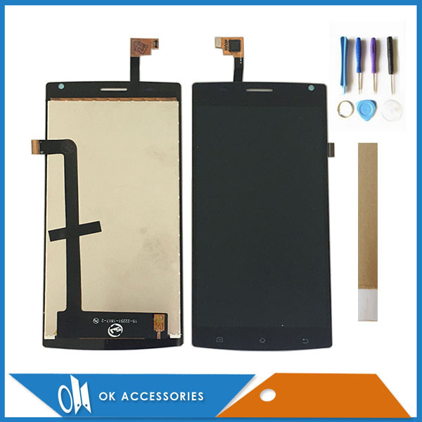 For MegaFon Login Plus MFLoginPh TOPSUN_G5247_A1 LCD Display+Touch Screen Digitizer Black Color With Tools Tape 1PC/Lot
