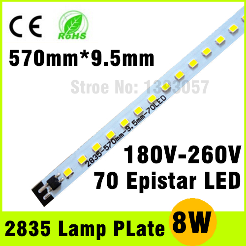 Excellent Quality 8W 2835 SMD Integrated IC Driver 220V LED Tube Plate Epistar Chip Cold White