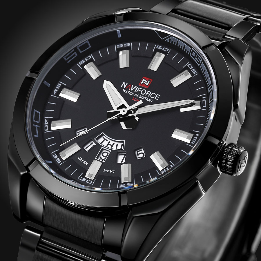 NAVIFORCE Full Steel Men Watches