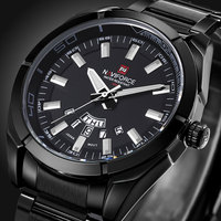 NAVIFORCE Full Steel Men Watches Top Brand Luxury Men Quartz Waterproof Watch Men Sports Watch Popular