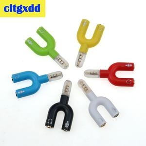 cltgxdd Headset Adapter Kit U Shape 3.5mm For Audio Headphone share For MIC Walkman iPod Portable CD DVD MP3(China)
