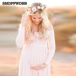 Smdppwdbb Maternidad fotografía props Fancy Maternidad Vestidos ropa embarazadas gasa Maxi vestido Maternidad vestido