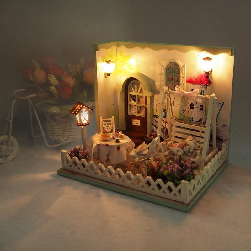 Кукольный дом Мебель DIY Миниатюрный casa de Boneca 3D DIY деревянные украшения Кукольный дом Креативный подарок-Secret Garden