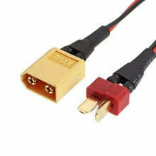 Best Deal 1pc 10cm Battery ESC Cable Connector AWG22 T Plug XT60 Plug to JST Plug for RC Model Drone Adapter Wirings Spare Parts