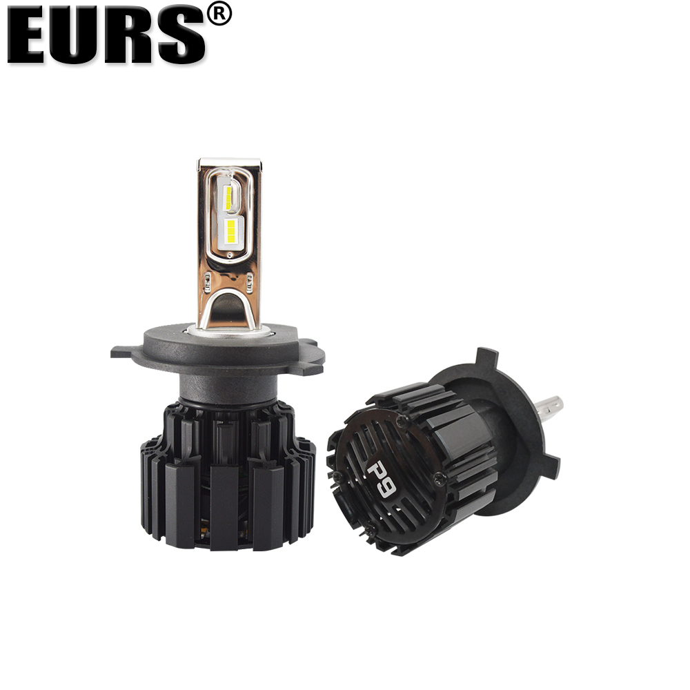EURS Бесплатная доставка супер яркий P9 автомобильная светодиодная лампа для фары 100 Вт 13600lm фары 6000K H4 H7 H11 9005 9006 9012 фары автомобиля - 6