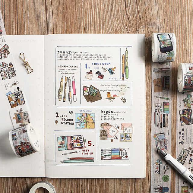 Канцелярские товары тема дизайн васи лента декоративная клейкая лента Diy Скрапбукинг наклейка этикетка маскирующая лента