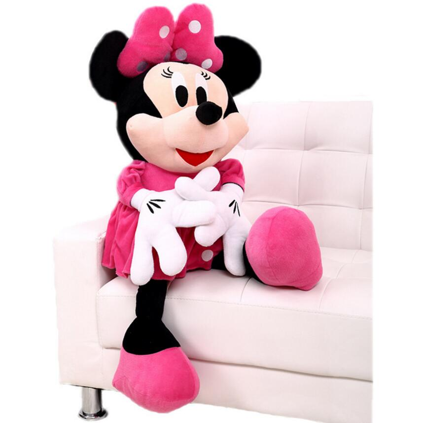 Original 50 cm Minnie Mouse Doll Big Plush Soft Mickey Stuffed Doll Anime Girl Birthday Gift Children Kids Baby Toys 1pcs 28cm minnie and mickey mouse low price super plush doll stuffed animals plush toys for children s gift