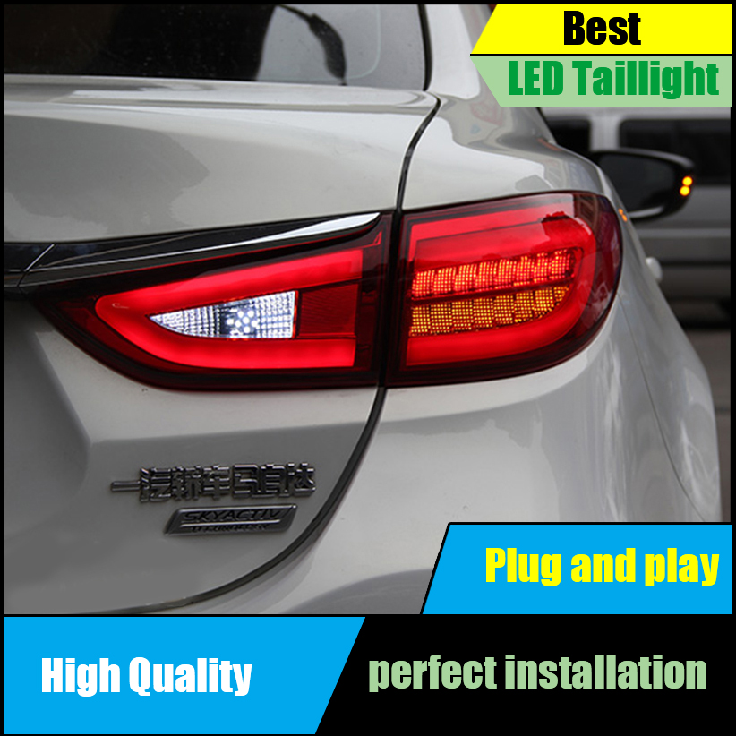 Car Styling Tail Light for Mazda 6 Atenza Sedan 2014 2015 Tail Lights Full LED Taillight Rear Lamp Driving+Brake+Park+Signal mazd6 atenza taillight sedan car 2014 2016 free ship led 4pcs set atenza rear light atenza fog light mazd 6 atenza axela cx 5