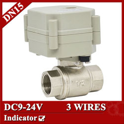 1 2 stainless electric valve dc9 24v dn15 3 wires motorized valve with indicator for drinking.jpg 250x250