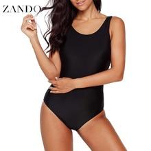 Zando New 2019 Summer Sexy Swimsuit Plus Size One Piece Women Swimwear Bathing Suits Monokini  Slimming Bodysuit