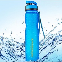1L large capacity plastic Sports Water Bottle outdoor fitness water bottle bike riding water portable frosted Space cup 750ml plastic water bottle running fitness water cup large capacity outdoor riding water bottle x 1106b