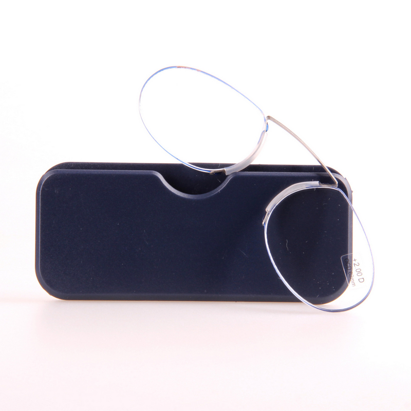 Mayitr 1pc Portable Pocket Nose Reading Glasses Clip Rimless Clip On Wallet Mini Nose Resting Pocket Reading Glasses in Men 39 s Reading Glasses from Apparel Accessories