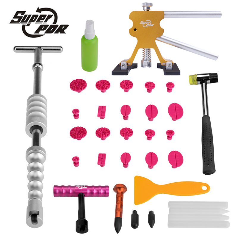 PDR Tool Sets Car Dent Repair Tools Brand New   Paintless Dent Removal Tools Slide Hammer Glue Puller PDR Tools Kit pdr tools paintless dent repair kit car repair tool set auto repair tool dent puller slide hammer bridge puller hammer tools