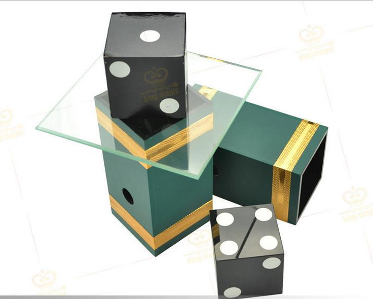 Free shipping! Dice Penetration Glass Impossible Die Penetration,Stage Magic Tricks,Illusions,Mentalism Magia Props, Magician magic props listen dice