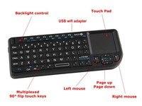 Mini 2 4G Wireless Keyboard Touchpad Backlight Wireless Keyboard For Smart TV Samsung LG Panasonic Toshiba