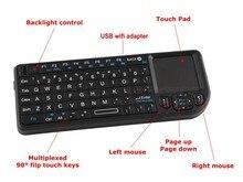 Mini tastiera Wireless 2.4G Touchpad retroilluminazione tastiera Wireless per Smart TV Samsung lg Panasonic Toshiba nave libera