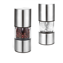 1Pc Manual Pepper Mill Stainless Steel Salt Grinder Kitchen Accessories Tool Gadgets Spice