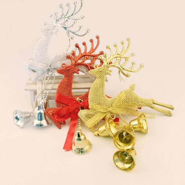 Jingle Bell Tree Decorations Amusing Elk Deer Jingle Bell Ornaments Hanging Christmas Tree Decoration Inspiration