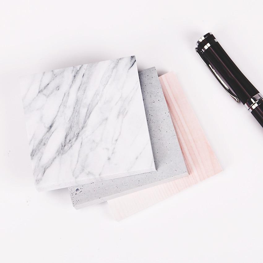 1 шт. (75 листов) В Цвет из мрамора блокнот самоклеющиеся memo pad Заметок Post-It закладки Школа канцелярских товаров