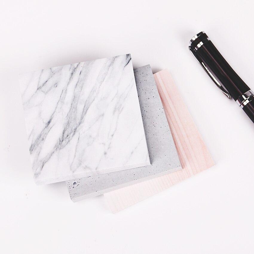 1 шт. (75 листов) Цвет из Мрамор блокнот самоклеющиеся Блокнот заметки закладки Школа канцелярских товаров
