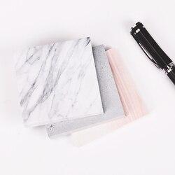 1 pc (75 folhas) a cor do bloco de notas de mármore auto adesivo bloco de notas pegajosas bookmark escola material de escritório