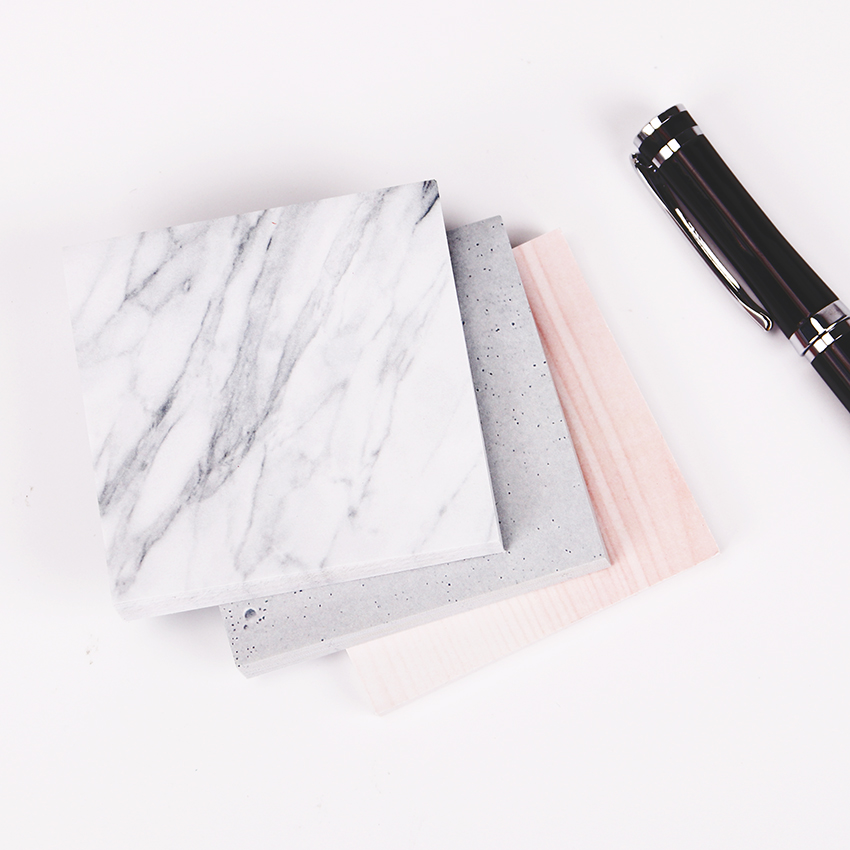 1PC(75 sheets)The Color of Marble Notepad Self Adhesive Memo Pad Sticky Notes  Bookmark School Office Supply 5 pcs lot 100 sheets fluorescent color sticky notes for marker classification macaron memo pad post office school supplies a6971