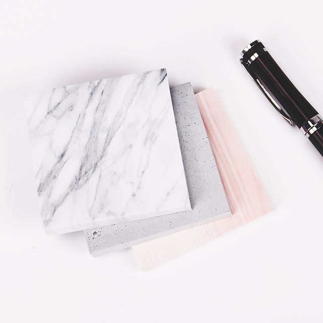 1PC(75 sheets)The Color of Marble Notepad Self Adhesive Memo Pad Sticky Notes  Bookmark School Office Supply