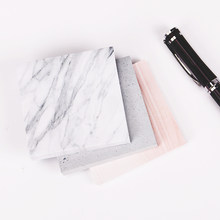 1PC(75 sheets)The Color of Marble Notepad Self Adhesive Memo Pad Sticky Notes Bookmark School Office Supply(China)