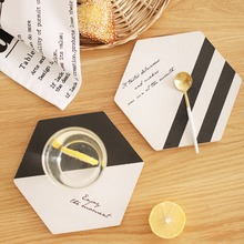 Wood Drink Coaster Coffee Cup Pad Accessories 1pcs