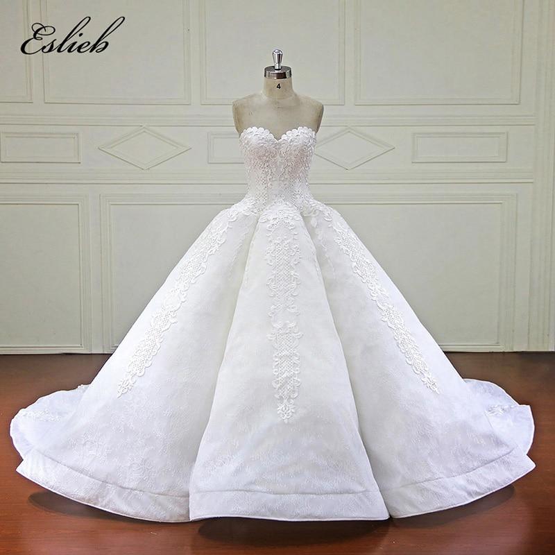 Eslieb elegantiška rutulinė suknele vestuvinė suknelė 2018 - Vestuvių suknelės