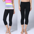 wholesale Lulu Brand Leggings capris for women black solid sexy Lady Elastic clothes hot  slim Leggings  pants Size: XS-XL