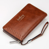 Baellerry New Fashion Business Men Wallet Leather Coin Purse And Handbags For Male Luxury Brand Zipper