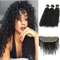 Mongolian Kinky Curly Hair With Closure Human Hair Extension 3pcs Bundles Deals Mongolian Human Hair Bundles With Closure