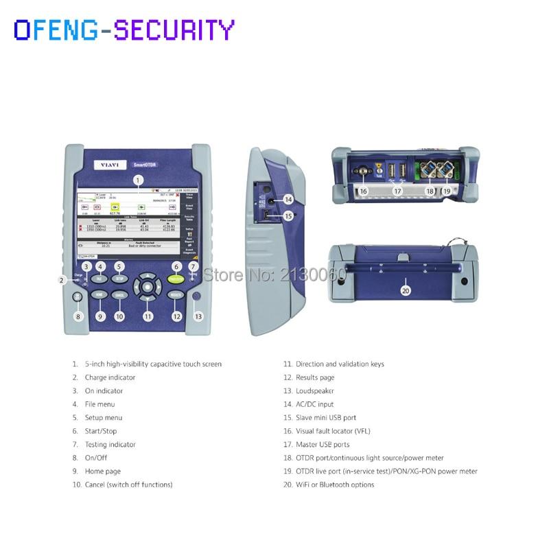 Handheld JDSU SmartOTDR 100AS OTDR 30/30dB E100AS Single Mode 1310/1550nm Optical Time Domain Reflectometer