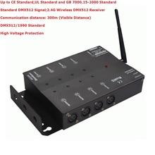 Fedex доставка Беспроводной DMX восемь-dmx-сплиттер DMX512 свет прожекторов сигнала Усилители домашние Splitter 8 Путь DMX Дистрибьютор