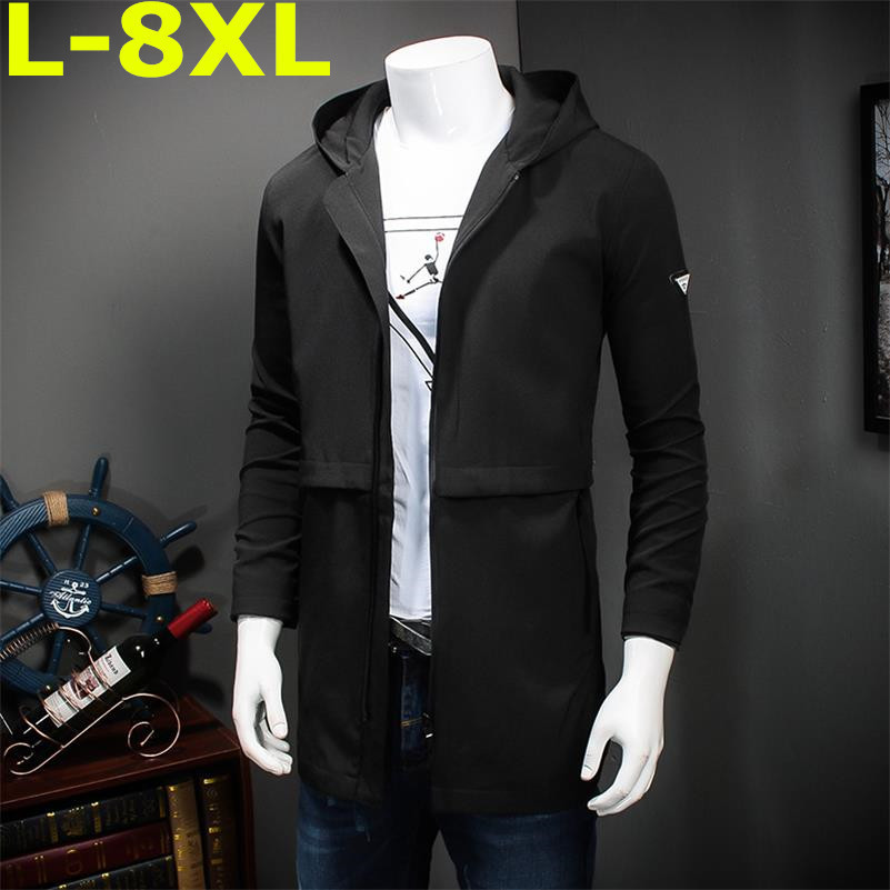 plus size  8XL 7XL 6XL 5XL 2018 New Arrival Brand Clothing Spring Winter Men Jackets Casual Zipper Loose Fit Coat large big size