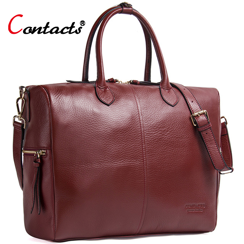 Contact's Genuine Leather Shoulder Bags Women Leather Handbag Women Messenger Bags Female Crossbody Bags For Women Tote Bag Big
