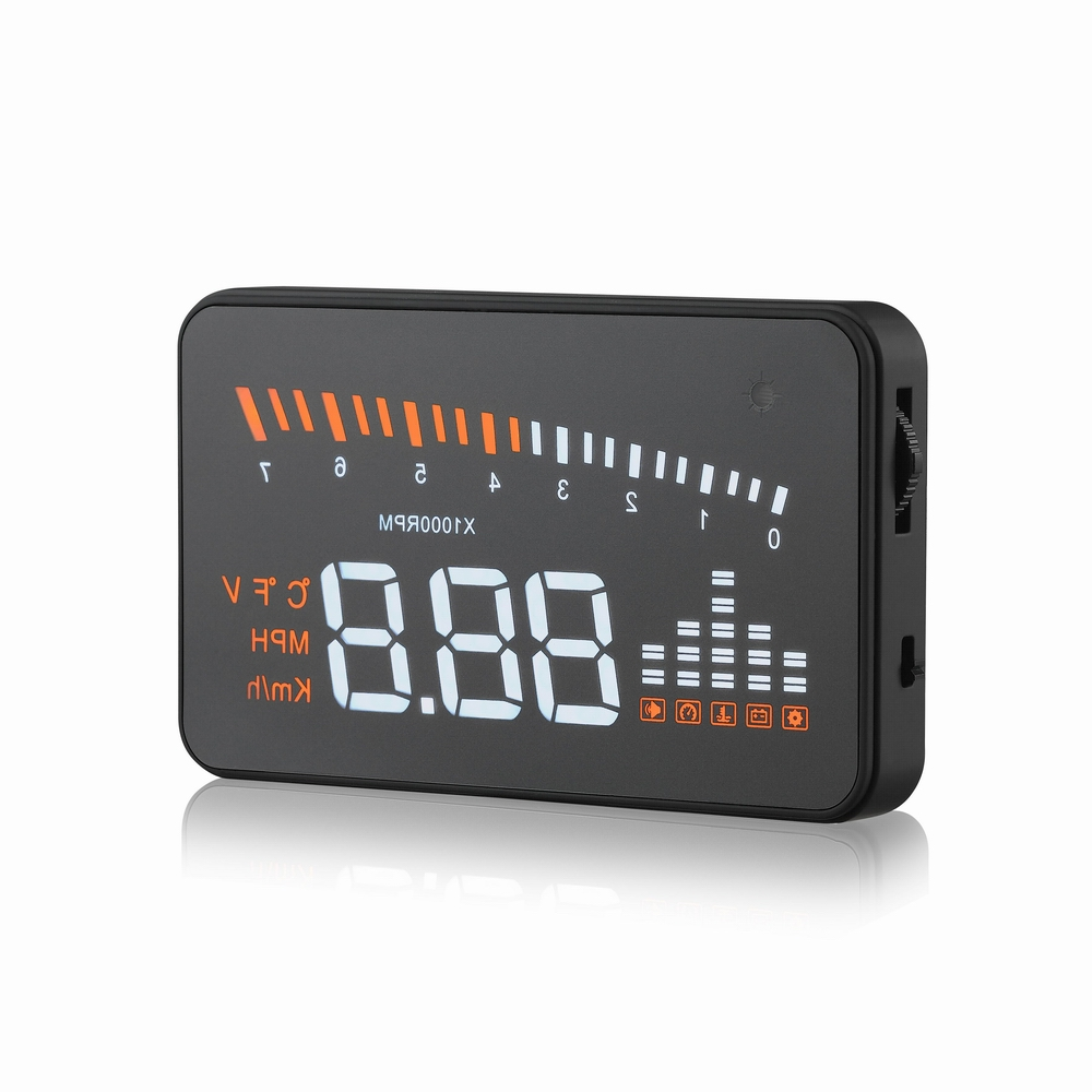 X5 3inch Auto Car HUD Head Up Display Over speed Warning Windshield Project Alarm System OBD2