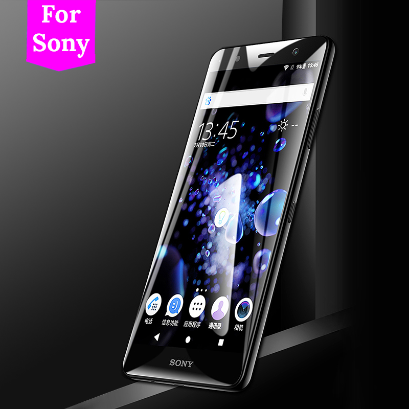 3D Glass For <font><b>Sony</b></font> Xperia XA2 Plus XZ3 XA1 <font><b>Case</b></font> Tempered Glass For <font><b>Sony</b></font> Soni <font><b>Experia</b></font> XZ4 <font><b>L3</b></font> 10 Plus XA1 Ultra XZ XA Premium Cover image