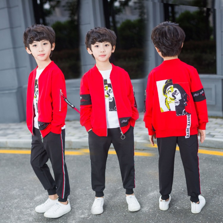2018 Casual Children Clothing Boy Tracksuits Costume Autumn Baby Boys Clothing Sets Kids Sports Suit 6 12 Y Kids Clothes Suit keaiyouhuo 2017 autumn boys girls clothes sets batman sport suit children clothing girls sets costume for kids baby boy clothes page 4